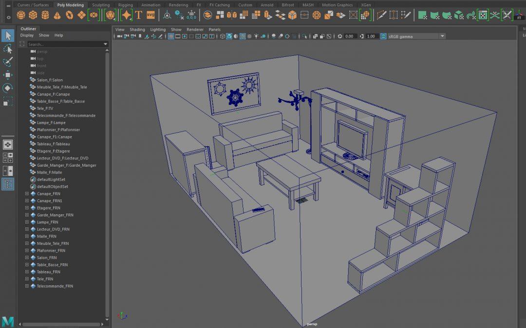 1ere Exercice 3D : Mettre en scène son salon en 3D