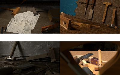 Exercice de 3D 1ere Année : L'Atelier de Menuiserie