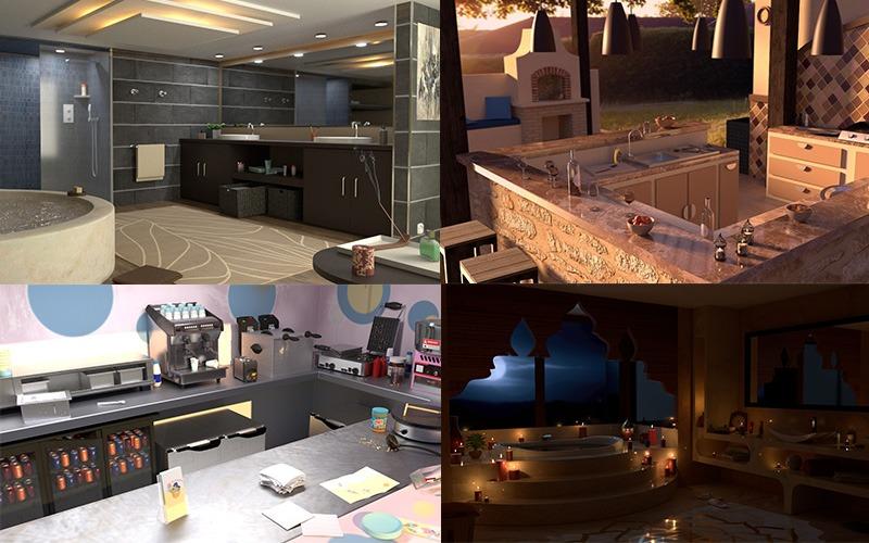 Modélisation 3D de Cuisines et de Salle de Bain
