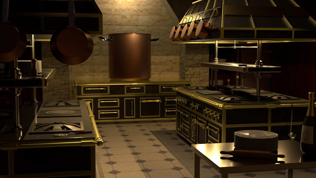 Exercice 1ere Année – Réalisation de Cuisines en 3D