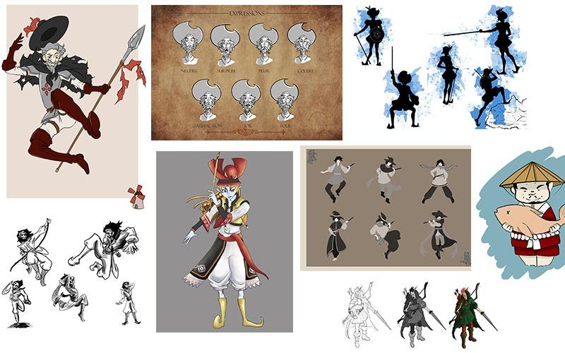 Création de personnage jeu vidéo cinéma