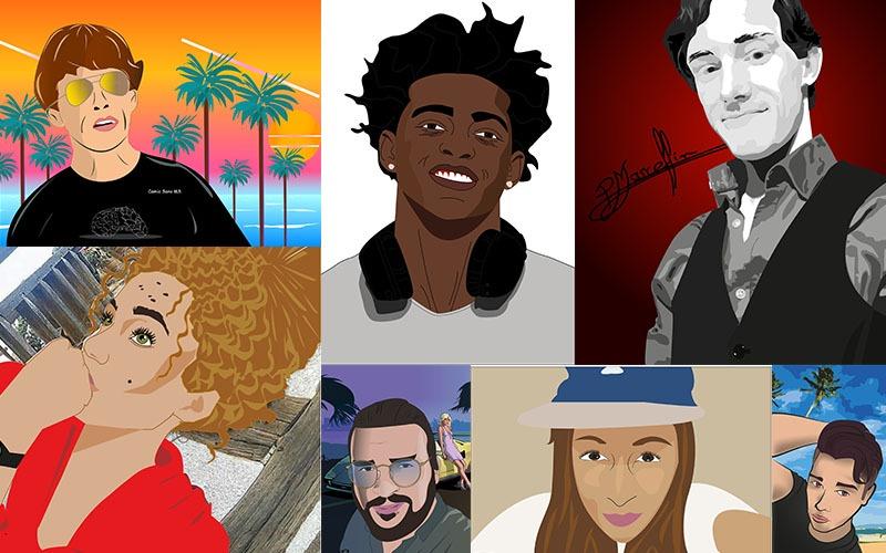 PAO : exercice Illustrator – Nos étudiants se tirent le portrait !